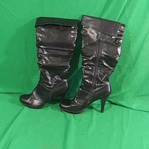 Rampage sz 10M black zipper calf length boots